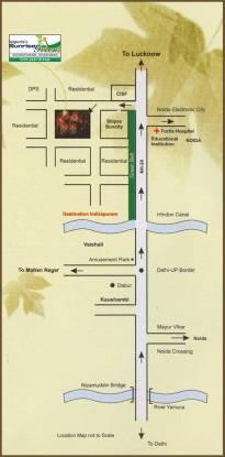 Jaipuria Sunrise Greens Apartment Location Plan
