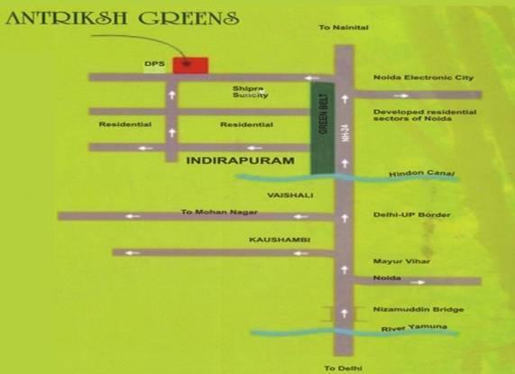 The Antriksh Greens Location Plan