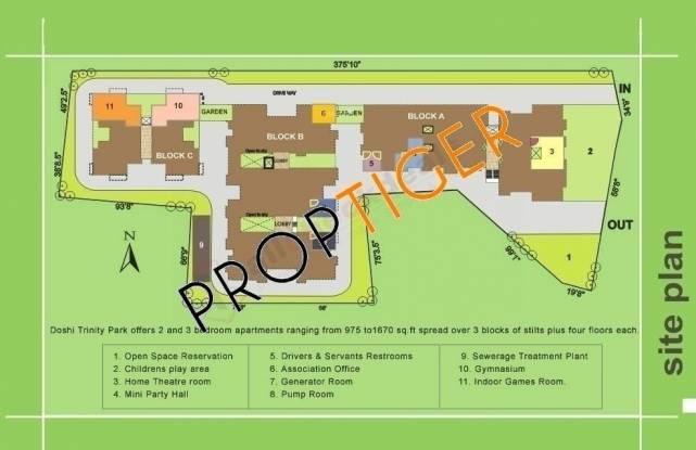 Doshi Trinity Park Site Plan