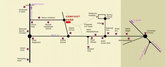 Aditya Comfort Zone Location Plan