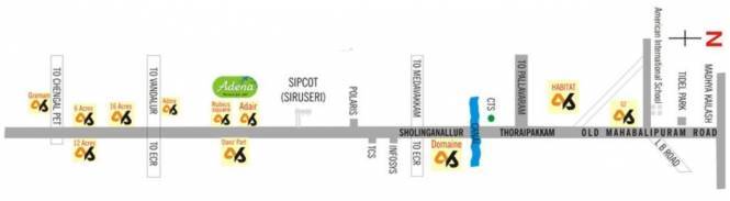 Akshaya Adena Location Plan