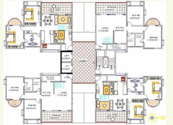 Magarpatta Sylvania Cluster Plan