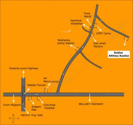 Sobha Althea Location Plan