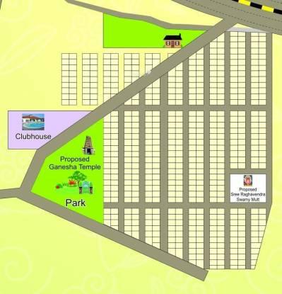 Abhivrudhi Brindavana City Layout Plan