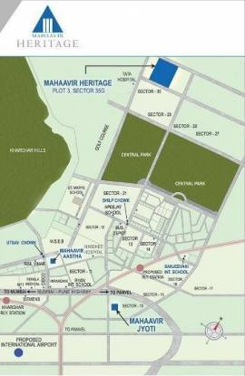Mahaavir Heritage Location Plan