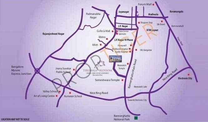 Prithvi Thirumala Blossoms Location Plan
