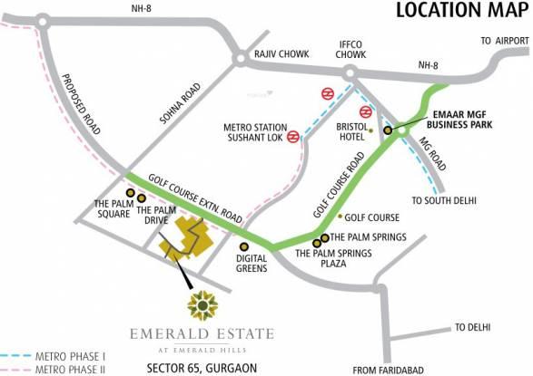 Emaar Emerald Estate Location Plan