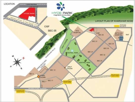 Nisarg Hyde Park Location Plan