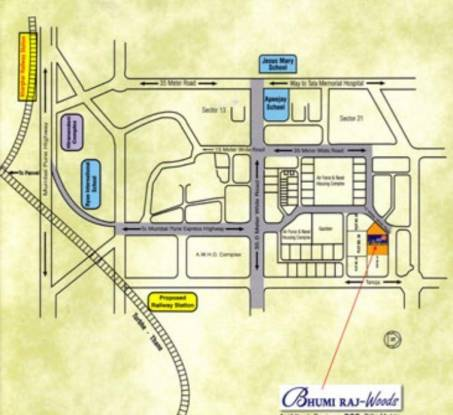 Bhumiraj Woods Location Plan