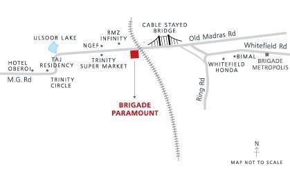Brigade Paramount Location Plan