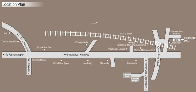 Modi Sunshine Park Location Plan