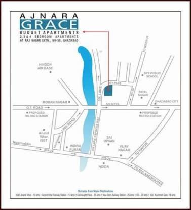 Ajnara Grace Location Plan