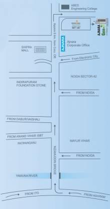 Ajnara Gen X Location Plan