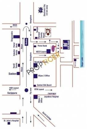 Aratt Divya Jyothi Royal Heights Location Plan