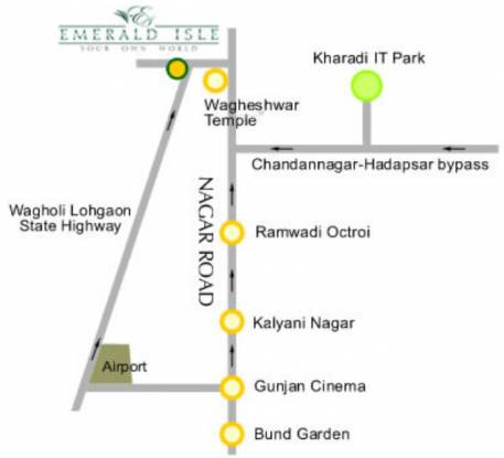 Nagarkar Emerald Isle Location Plan
