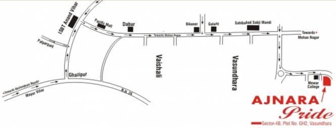 Ajnara Pride Location Plan