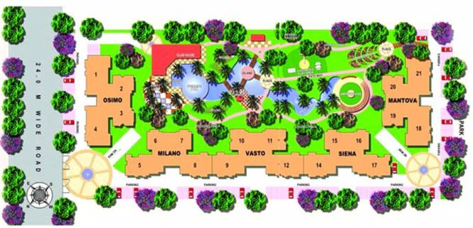 Mahagun Maestro Site Plan