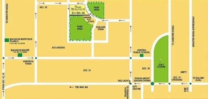 Mahagun Morpheus Location Plan