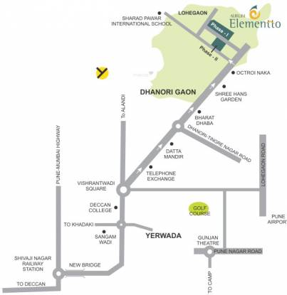 Aurum Elementto Location Plan