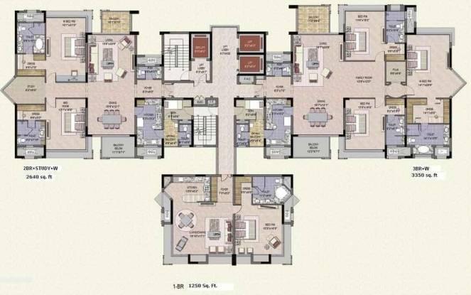 Jaypee Crescent Court Cluster Plan