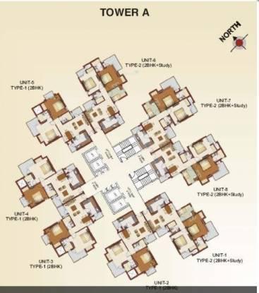 RG Luxury Homes Cluster Plan