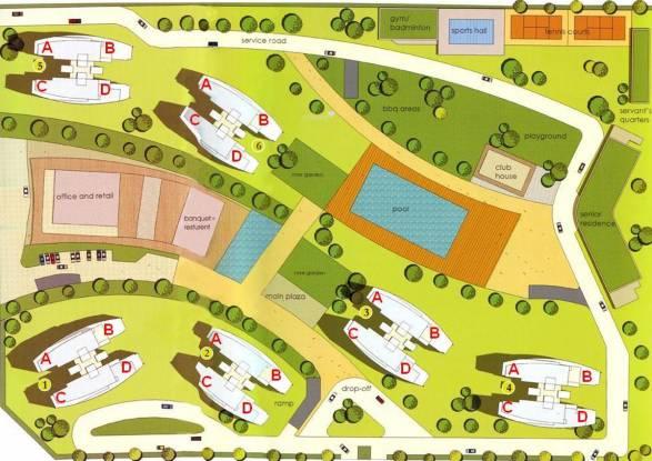 Shrachi Rosedale Garden Site Plan