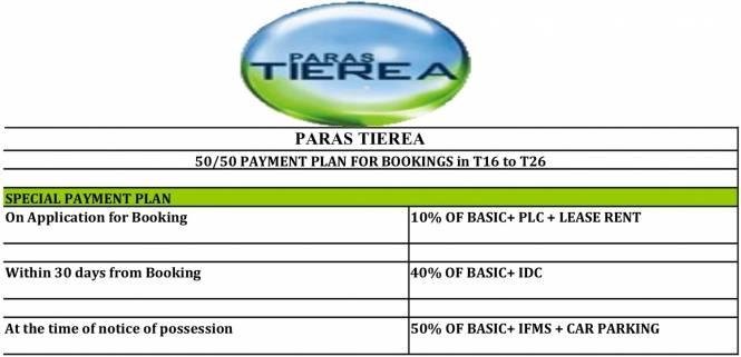 Paras Tierea Payment Plan