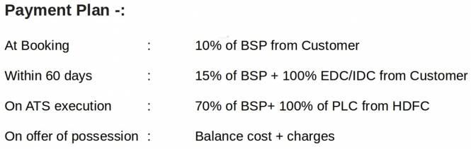 Raheja Vedaanta Payment Plan