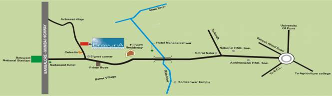 Gayatri Bravuria Location Plan