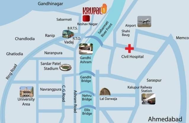 Narayan Krupal 1 Location Plan