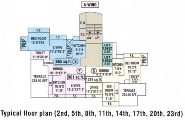 Bhumiraj Hermitage Cluster Plan