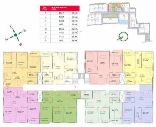 GM Meena Residency Cluster Plan