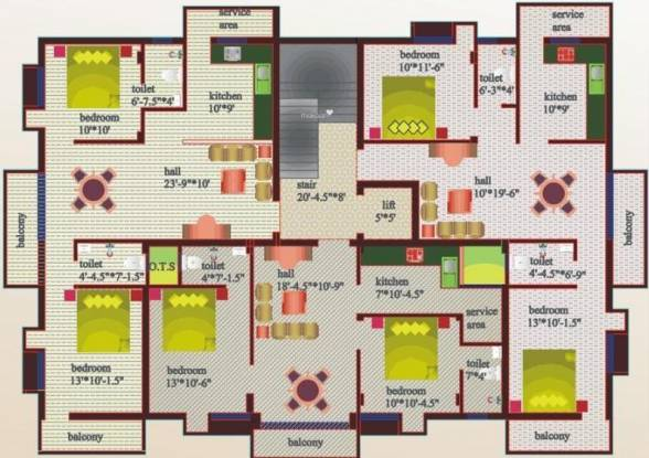 Sree Homes Adora Appartment Cluster Plan