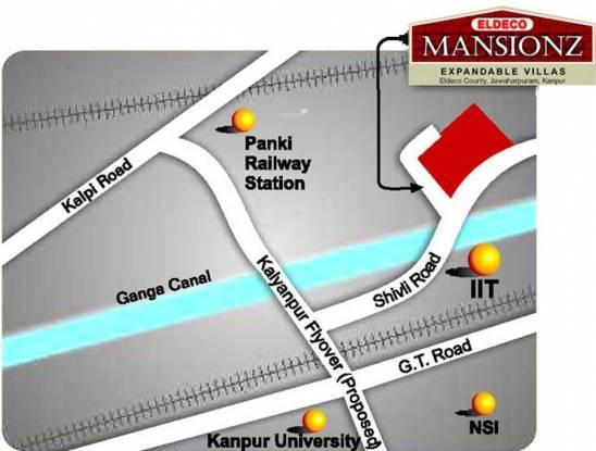 Eldeco Mansionz Location Plan