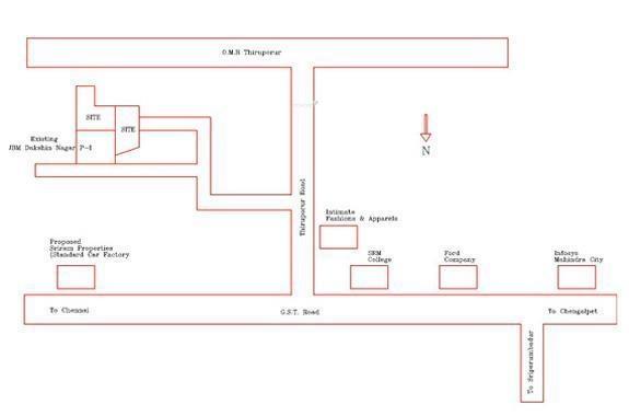 JBM Dakshin Nagar Phase II Location Plan