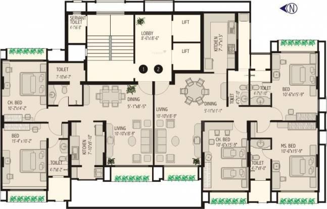 PR Lido Towers Cluster Plan
