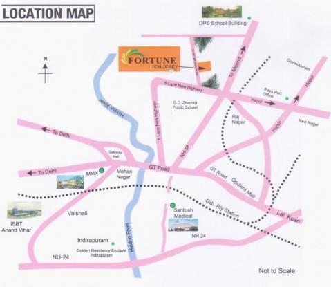 Vasu Fortune Residency Location Plan
