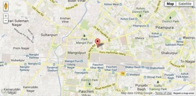CGHS Triveni Apartment Location Plan
