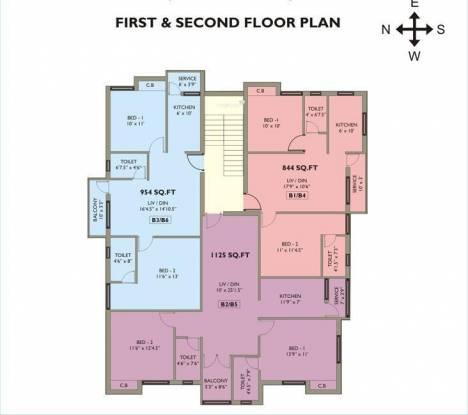 Mahalakshmi Kokilambak Nagar Apartment Cluster Plan