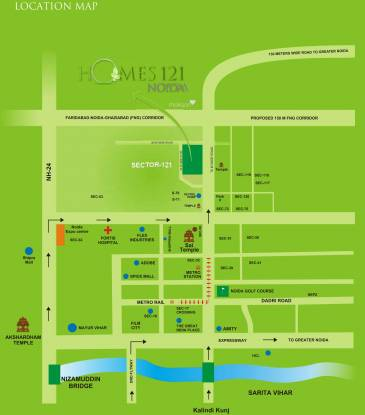 homes121 Images for Location Plan of Ajnara Homes121
