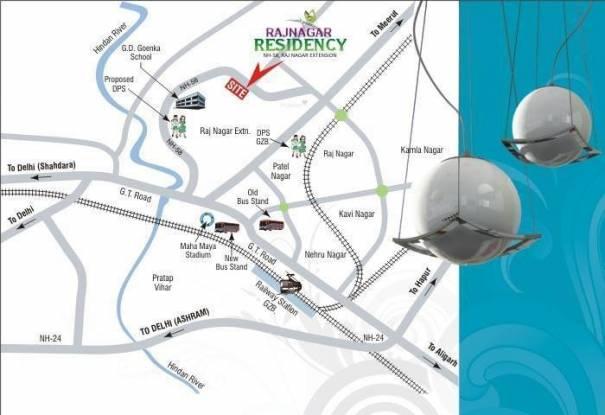 Mittal Rajnagar Residency Location Plan