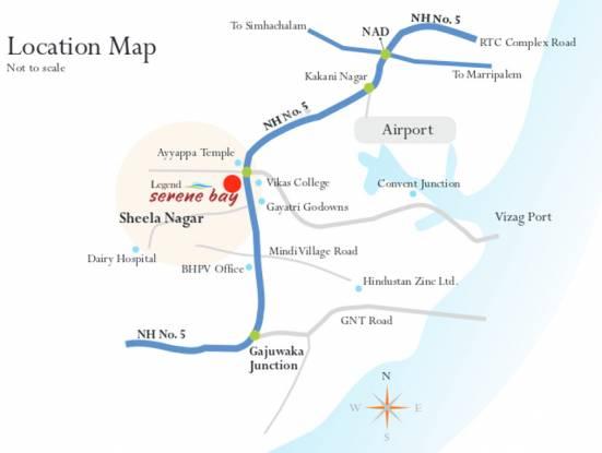 Legend Serene Bay Location Plan