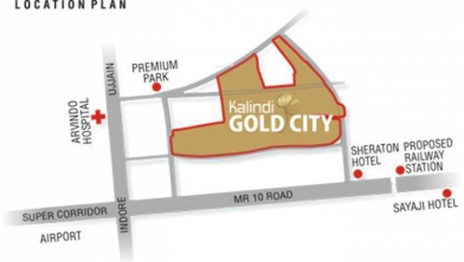 Kalindi Gold City Location Plan