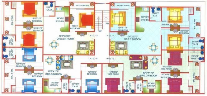 Adarsh Apartment 7 Cluster Plan