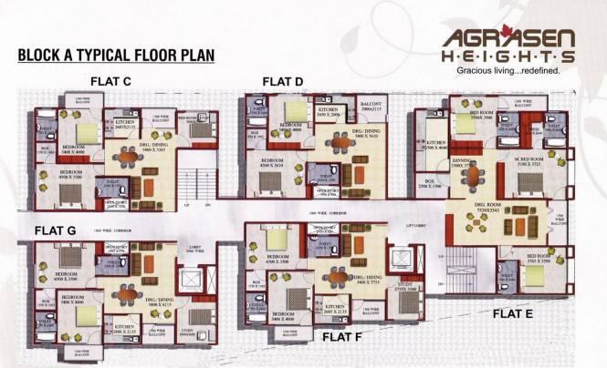 agrasen-heights Block B Cluster Plan