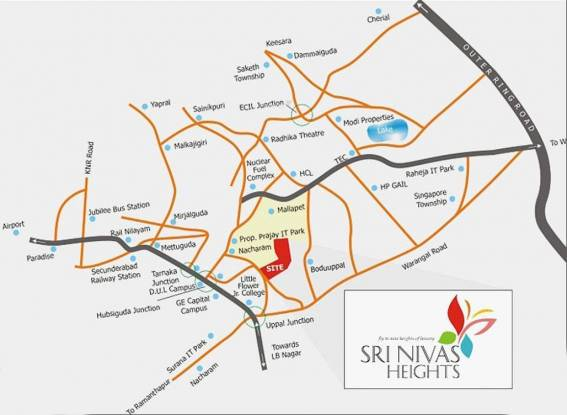 SH Sri Nivas Heights Location Plan