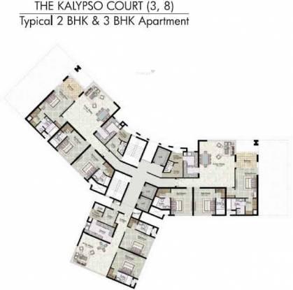 Jaypee The Kalypso Court Cluster Plan