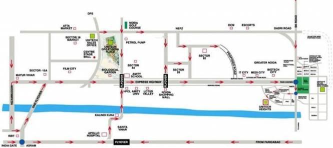 Unitech Heights Location Plan