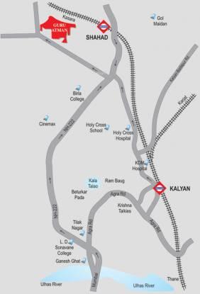 Gurukrupa Guru Atman Location Plan