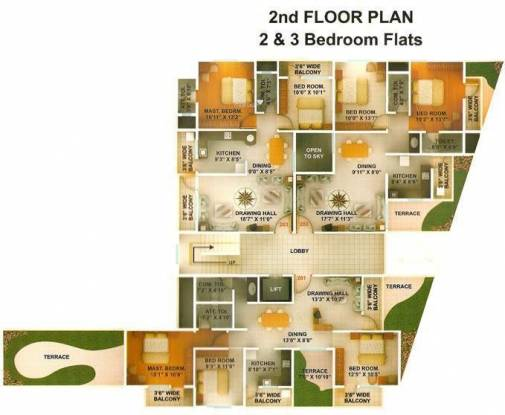 Green Amans Majestic Cluster Plan